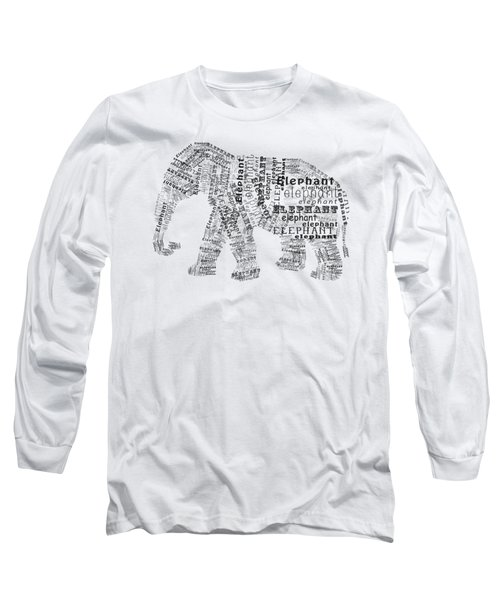 Elefont Noir Long Sleeve T-Shirt by Heather Applegate