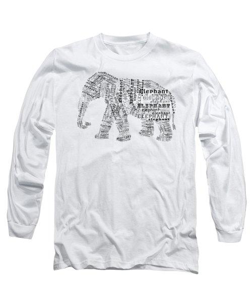 Elefont Noir Long Sleeve T-Shirt