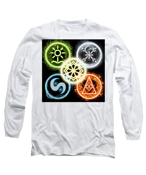 Long Sleeve T-Shirt featuring the digital art Elements Of Nature by Shawn Dall