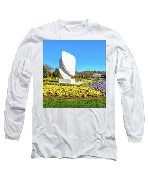 Elements Sculpture At Christopher Newport University In Springtime Long Sleeve T-Shirt