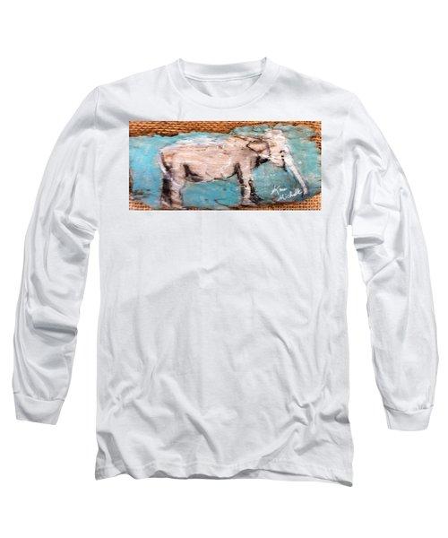 Elephant Long Sleeve T-Shirt by Ann Michelle Swadener
