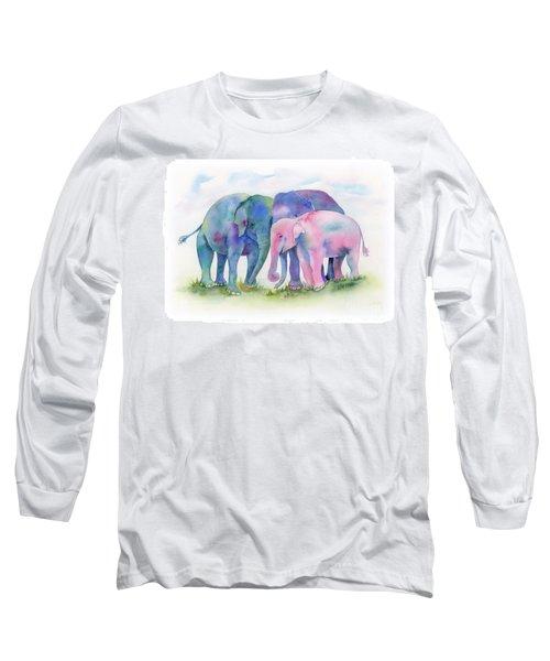 Elephant Hug Long Sleeve T-Shirt