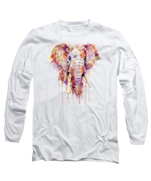Elephant  Long Sleeve T-Shirt by Marian Voicu