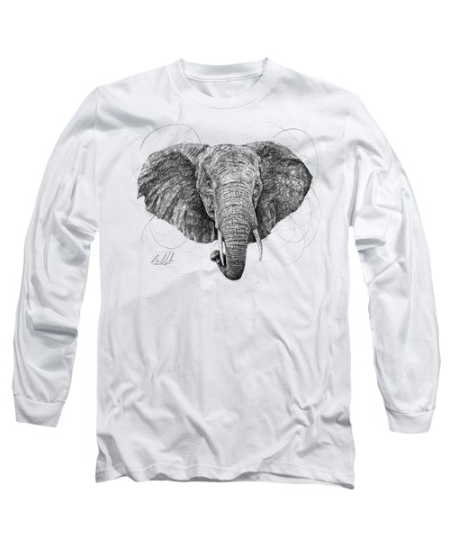 Elephant Long Sleeve T-Shirt by Michael Volpicelli
