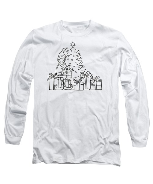 Elf And Presents  Long Sleeve T-Shirt by Mantra Y