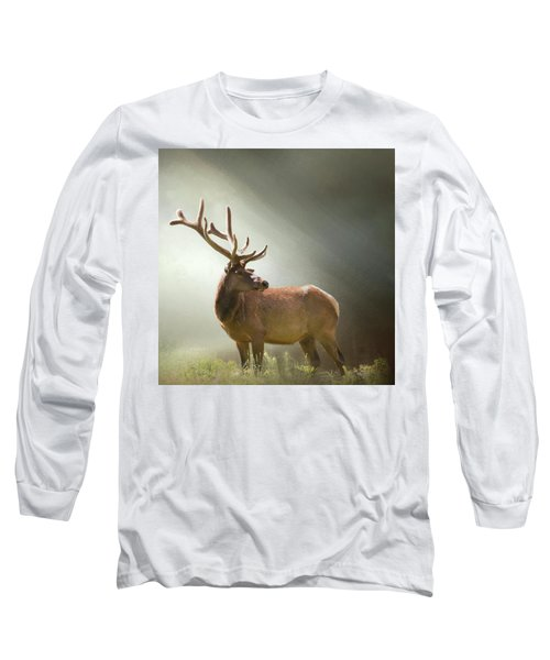 Long Sleeve T-Shirt featuring the photograph Elk In Suns Rays by David and Carol Kelly