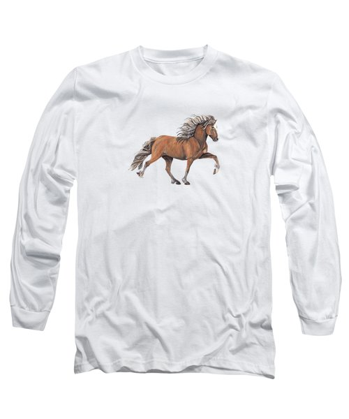 Long Sleeve T-Shirt featuring the painting Elska by Shari Nees