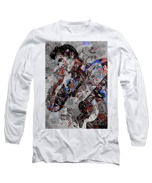 Elvis Presley Collage Long Sleeve T-Shirt by Gull G