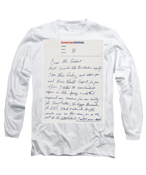 Elvis Presley Letter To President Richard Nixon Long Sleeve T-Shirt