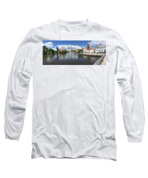 Embankment Of Trave In Luebeck Long Sleeve T-Shirt