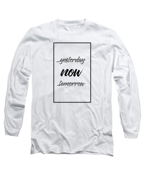 Emotional Art Now - Black And White Long Sleeve T-Shirt
