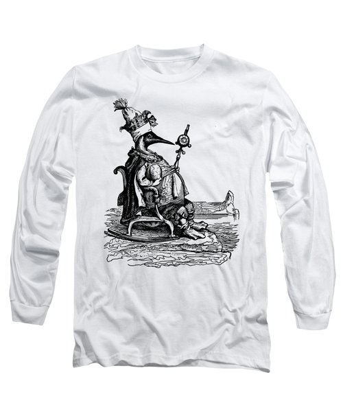 Empire Penguin Grandville Transparent Background Long Sleeve T-Shirt by Barbara St Jean