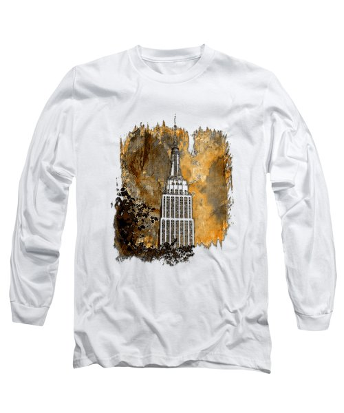 Empire State Of Mind Earthy 3 Dimensional Long Sleeve T-Shirt