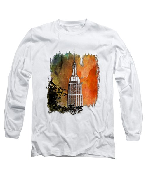 Empire State Of Mind Earthy Rainbow 3 Dimensional Long Sleeve T-Shirt