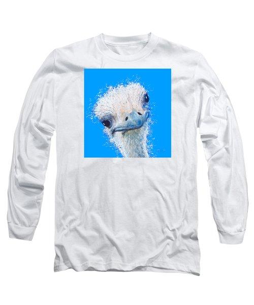 Emu Painting Long Sleeve T-Shirt by Jan Matson