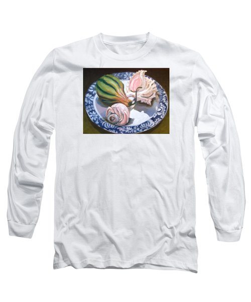 Long Sleeve T-Shirt featuring the painting End Of Summer by Laura Aceto