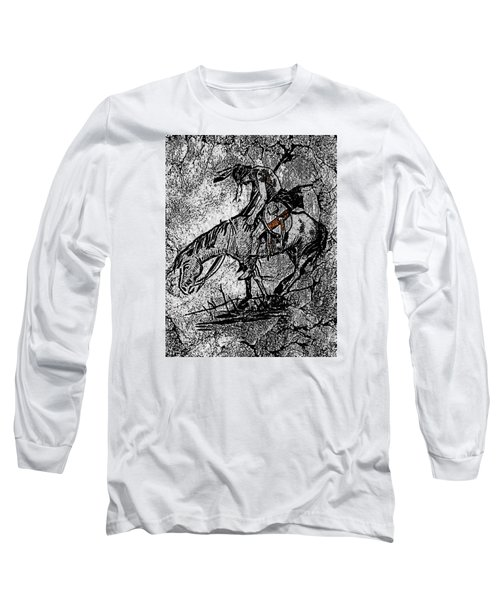 End Of The Trail 3 Long Sleeve T-Shirt by Ayasha Loya