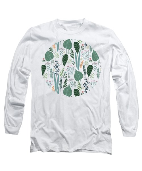End Of Winter Spring Thaw Garden Pattern Long Sleeve T-Shirt