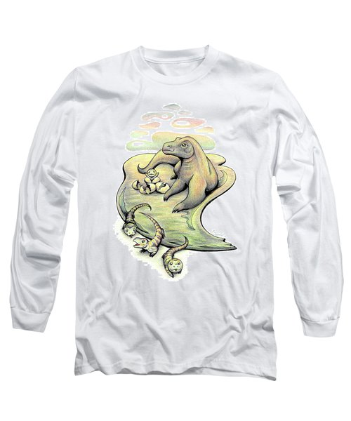 Endangered Animal Komodo Dragon Long Sleeve T-Shirt