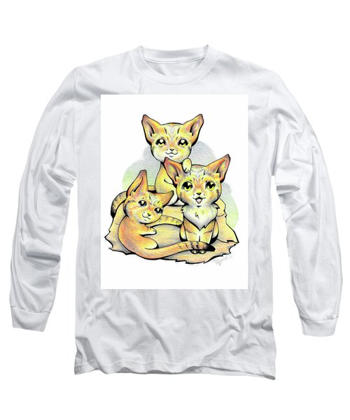 Endangered Animal Sand Cat Long Sleeve T-Shirt