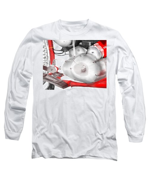 Long Sleeve T-Shirt featuring the drawing Engine Detail by Terry Frederick