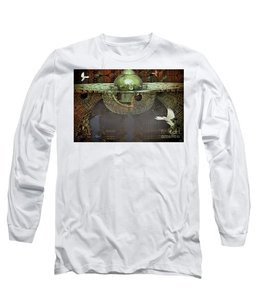 Engine Room Fractal Long Sleeve T-Shirt by Melissa Messick