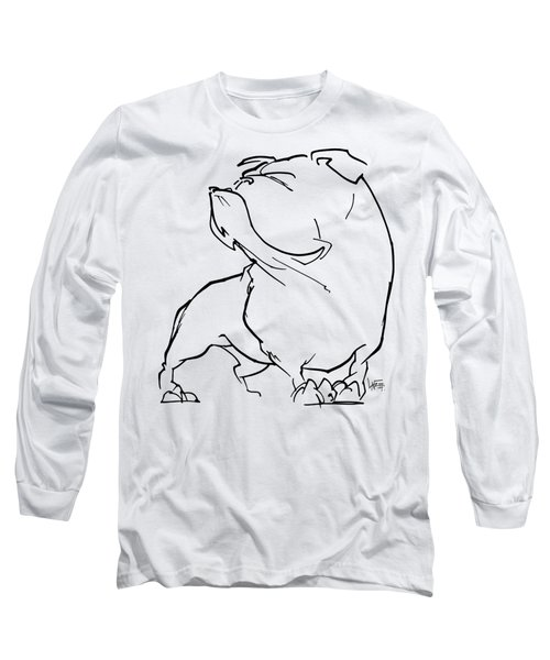 English Bulldog Gesture Sketch Long Sleeve T-Shirt