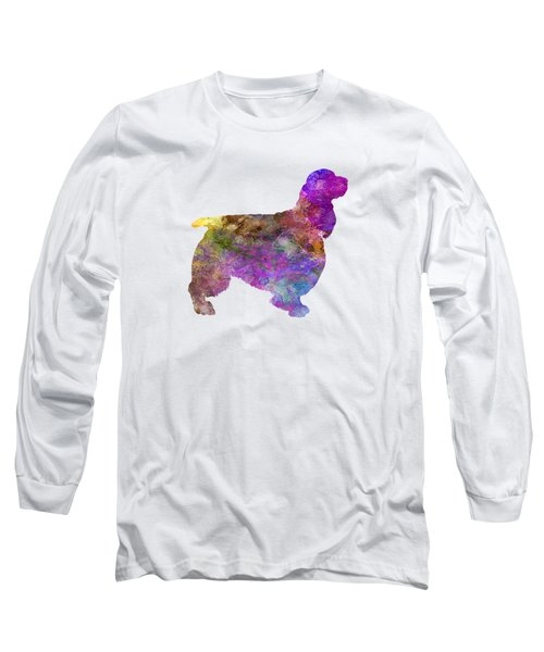 English Springer Spaniel 01 In Watercolor Long Sleeve T-Shirt