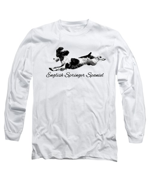 Long Sleeve T-Shirt featuring the digital art English Springer Spaniel by Ann Lauwers