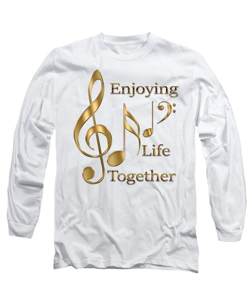 Enjoying Life Together Long Sleeve T-Shirt by Georgeta Blanaru