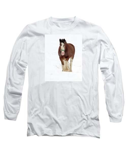 Long Sleeve T-Shirt featuring the photograph Equus Caballus.. by Nina Stavlund