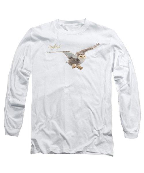 eRegal Studio Snowy Owl graphic Long Sleeve T-Shirt