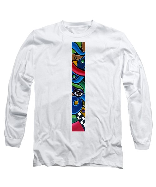 Colorful Abstract Art Painting, Modern Art Brown Eye Art Paintings Long Sleeve T-Shirt