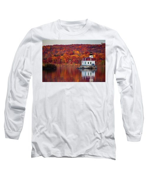 Long Sleeve T-Shirt featuring the photograph Esopus Lighthouse In Late Fall #1 by Jeff Severson