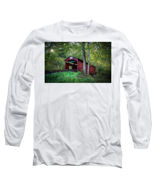 Long Sleeve T-Shirt featuring the photograph Esther Furnace Bridge by Marvin Spates