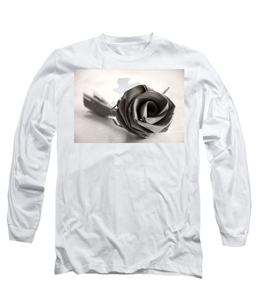Eternal Rose In Sepia Long Sleeve T-Shirt