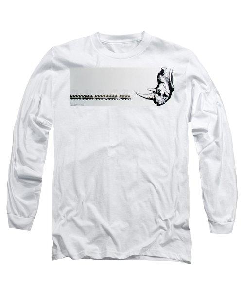 Ethnic Rhino Long Sleeve T-Shirt