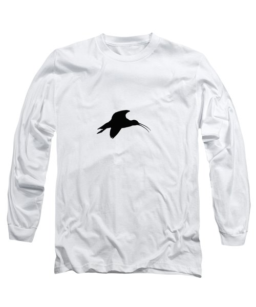 Eurasian Curlew Graphical Transparent Long Sleeve T-Shirt