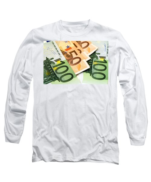 Euro Banknotes Long Sleeve T-Shirt