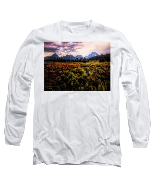 Evening At The Grand Tetons  ... Long Sleeve T-Shirt