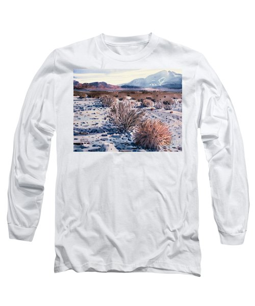 Evening In Death Valley Long Sleeve T-Shirt by Donald Maier