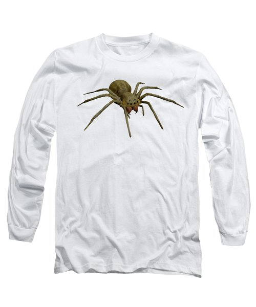 Evil Spider Long Sleeve T-Shirt by Martin Capek