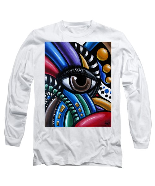 Eye Abstract Art Painting - Intuitive Chromatic Art - Pineal Gland Third Eye Artwork Long Sleeve T-Shirt