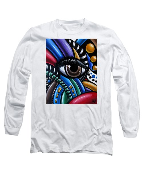 Eye Am - Abstract Art Painting - Intuitive Art - Ai P. Nilson Long Sleeve T-Shirt