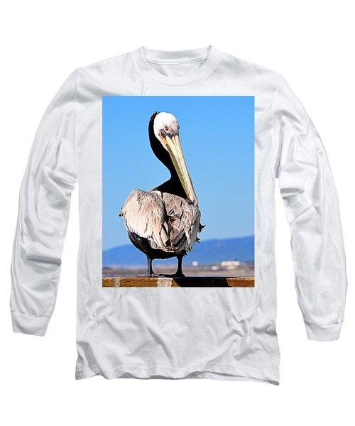 Long Sleeve T-Shirt featuring the photograph Eye Contact by AJ Schibig