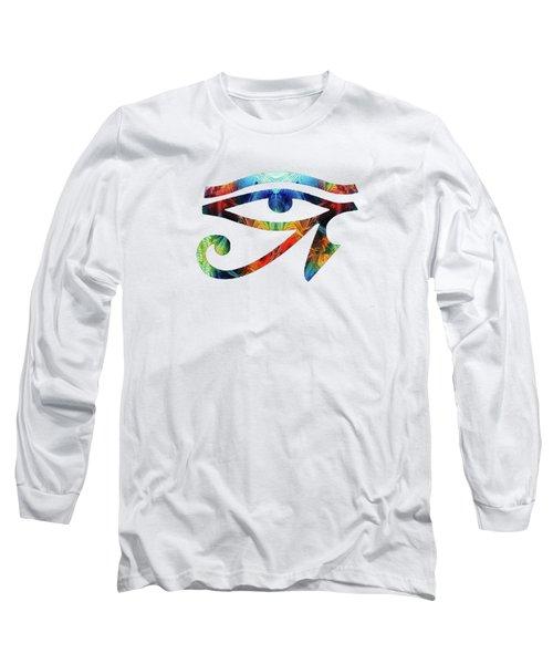 Eye Of Horus - By Sharon Cummings Long Sleeve T-Shirt