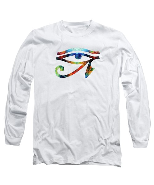 Eye Of Horus - By Sharon Cummings Long Sleeve T-Shirt