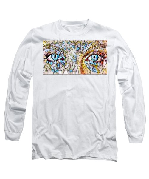 Eyes Of A Goddess - Stained Glass Long Sleeve T-Shirt