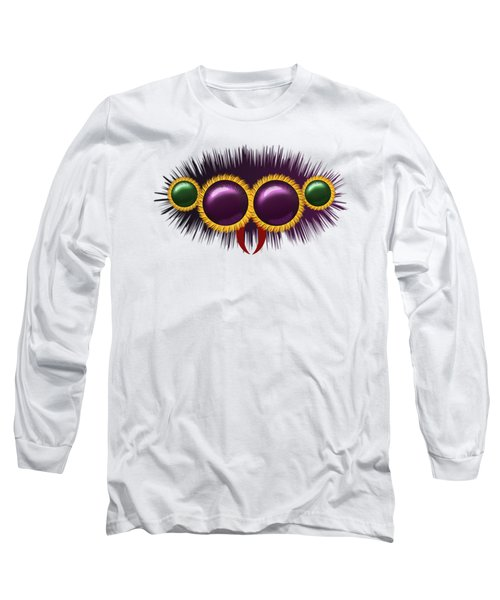 Eyes Of The Huge Hairy Spider Long Sleeve T-Shirt by Michal Boubin
