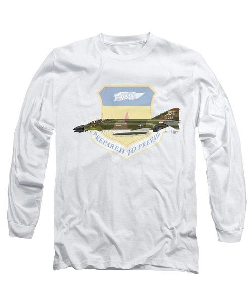 F-4d Phantom Bitburg Long Sleeve T-Shirt by Arthur Eggers